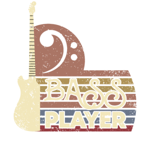 Bass Guitar Player Vintage Bass Clef Gift for
