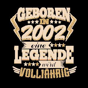 Geburtstag 2002 Legende wird volljährig