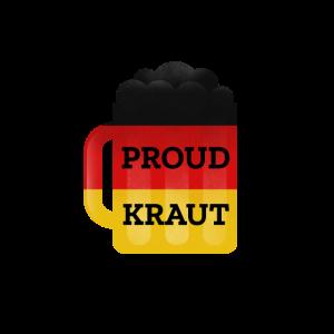 Proud Kraut Bierkrug mit deutscher Flagge