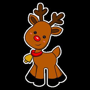 Süßes Rentier Baby Weihnachten Geschenkidee