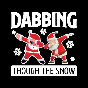Dabbing Santa Weihnachtsmann Geschenk