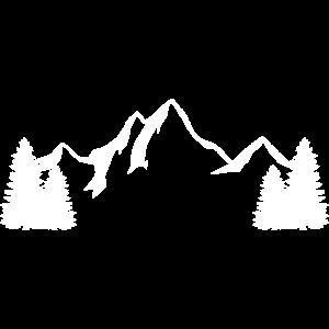 Bergkulisse mit Tannen