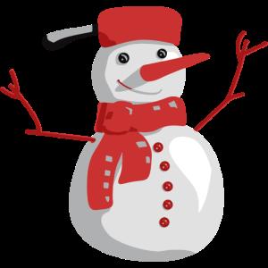 Schneemann aus Schnee - Weihnachten