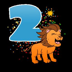 2 Geburtstagsjunge Geburtstagsfeier Zwei Jahre Alt