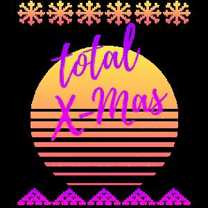 Total X Mas 80er 90er Vaporwave Weihnachten Design