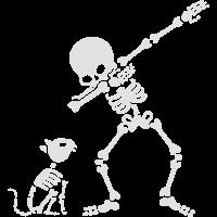 Dab dabbing skeleton Pet Cat Bones