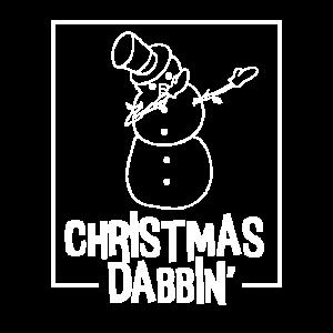 Christmas Dabbin Snowman