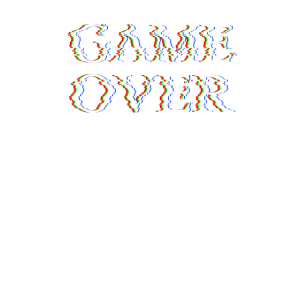 Gaming game over glitch style