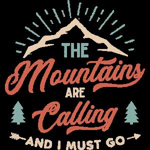 Camping Berge Retro Vintage Spruch Geschenk Shirt