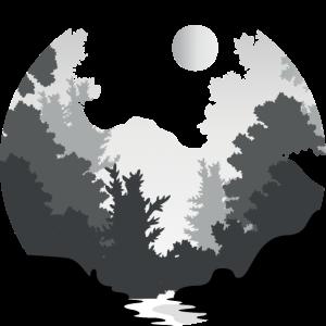 Wald Natur Mond Fluss Geometrisch Rund Kreis