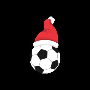 Fußball mit Weihnachtsmütze Weihnachten Bescherung