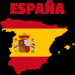 Spanien Flagge Karte
