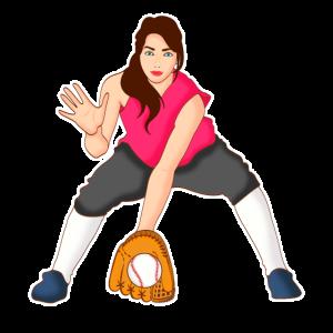 Baseball Spielerin