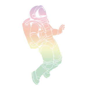 Farbenfroher Astronaut