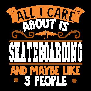 Ich liebe Skateboarding