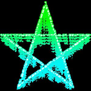Schwebendes Pentagramm - weiße Magie