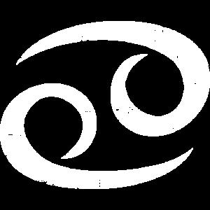 Sternzeichen Krebs (Vintage/Weiß)
