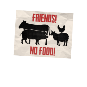 Animal = Friend, dunkel.