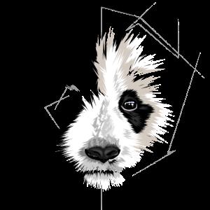 panda bear geometric symbol