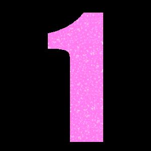 1 Jahr Geburtstag Zahl Rosa Glitzer Geschenk Kop