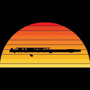 Querflöte Retro Vintage Sonnenuntergang