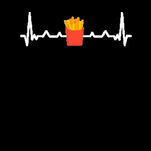 Pommes Herzschlag, Heartbeat, Puls, EKG tshirt