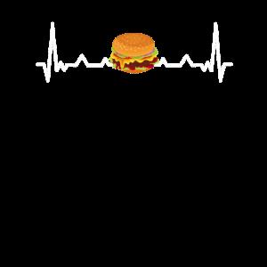 Burger Herzschlag, Heartbeat, Puls, EKG tshirt