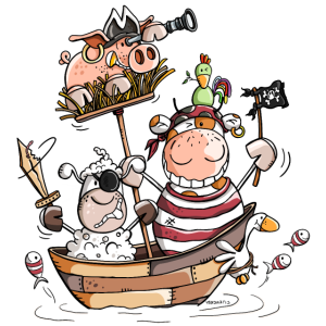 Lustige Bauernhofpiraten - Pirat - Seeräuber