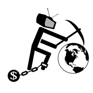 Konsum zerstört die Welt (schwarz)
