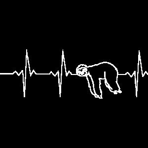 Heartbeat Herzschlag Frequenz Faultier weiß