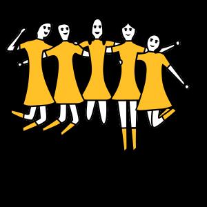 I am a Hockey Girl Yellow