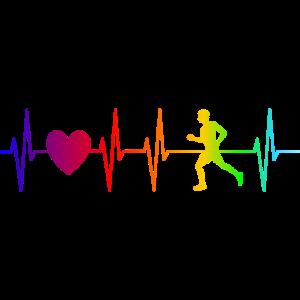 Puls Herzfrequenz Läufer - Laufen - Rennen Jogger