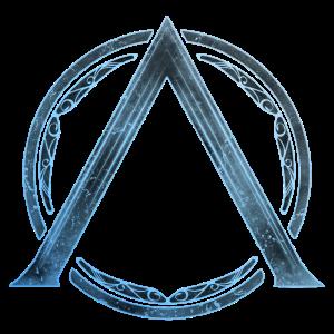 Sparta Lambda Symbol Blau Eis