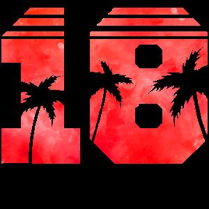 18 palms red