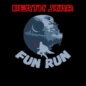 Todesstern-Spaß-Lauf-Shirt Laufende Motivations-Parodie
