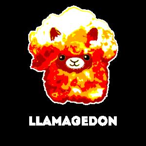 Llamagedon Shirt Lama Alpaka Armaggeddon Tshirt G