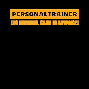 Lustiger persönlicher Trainer-Entwurf