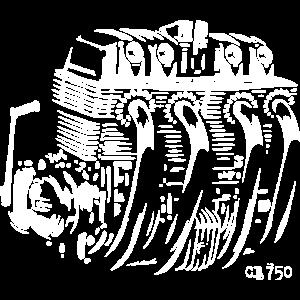 Motorrad Motor CB750 Cafe Racer