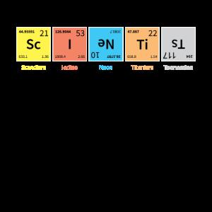 Scientist Periodensystem Nerdy Science Geschenk Ch