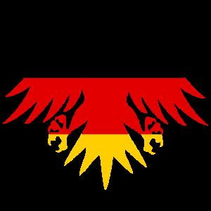 Deutschland Adler Nr.2 (3-farbig)