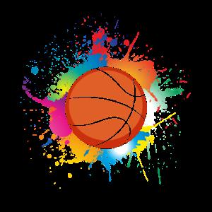 Basketballer Basketballspiel Teamsport Farbklecks