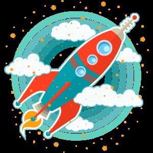 Retro Rakete (Kreise)