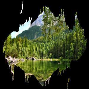 Farbfleck Splash Naturlandschaft