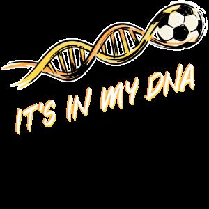 Fussball DNA Fussballer Fussballfan Lustig Spruch