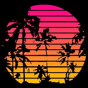 Kühle Art 80s Tropical Sunset