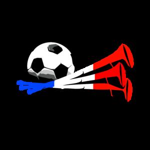 Amateur de foot Vuvuzela drapeau tricolore