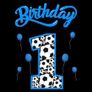 1. Geburtstag mit Fussbällen und Luftballons