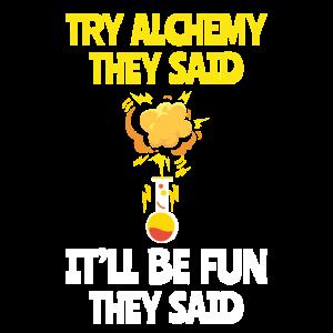 Lustige Versuch-Alchimie Es ist Spaß-Alchimistengeschenk