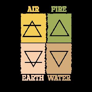 Cooles Element-Erdwind-Feuer-Wasser-Alchimistgeschenk