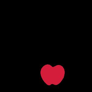 Vogel Amsel mit Apfel / blackbird / appel